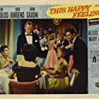 Debbie Reynolds, Gloria Holden, Curd Jürgens, and John Saxon in This Happy Feeling (1958)