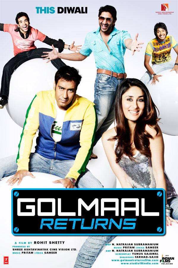 Golmaal Returns 2008 Hindi 400MB HDRip BluRay ESub Download