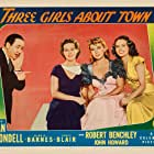 Joan Blondell, Binnie Barnes, Robert Benchley, and Janet Blair in Three Girls About Town (1941)