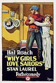Stan Laurel, Viola Richard, and Malcolm Waite in Why Girls Love Sailors (1927)