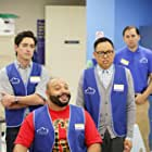 Ben Feldman, Colton Dunn, and Nico Santos in Superstore (2015)