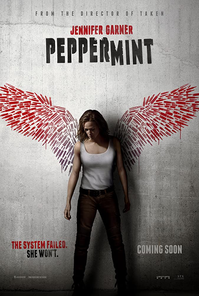 Peppermint (2018) English 720p HDRip x264 800MB ESubs