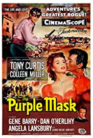 Tony Curtis, Colleen Miller, and Dan O'Herlihy in The Purple Mask (1955)