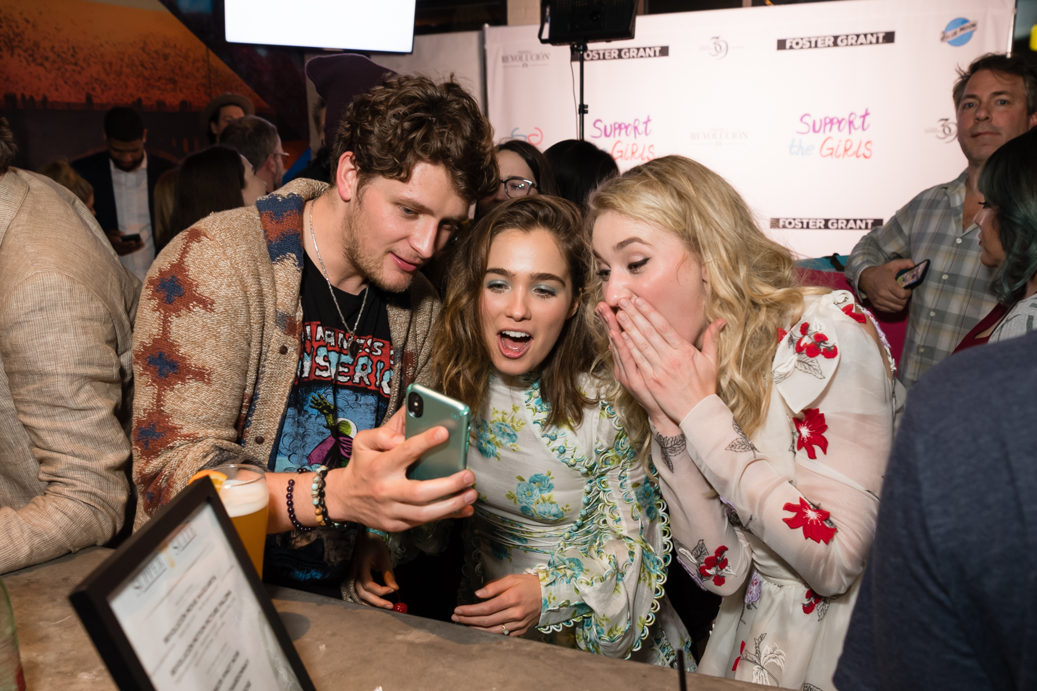 AJ Michalka and Haley Lu Richardson at an event for Support the Girls (2018)
