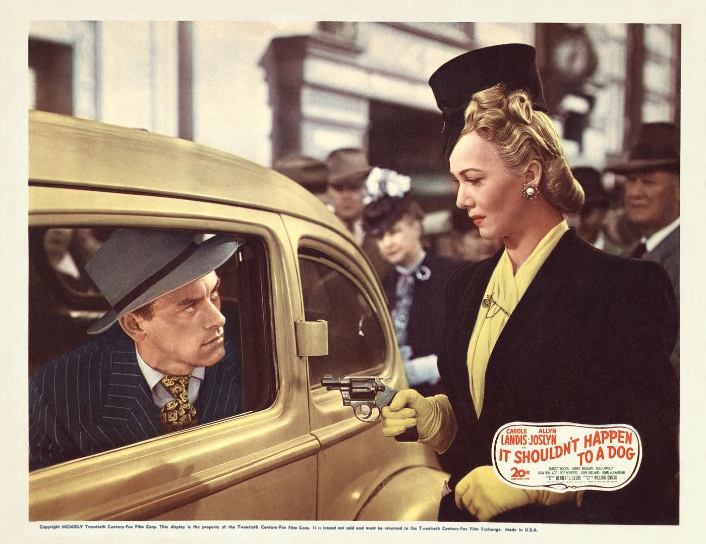 John Ireland and Carole Landis in It Shouldn't Happen to a Dog (1946)