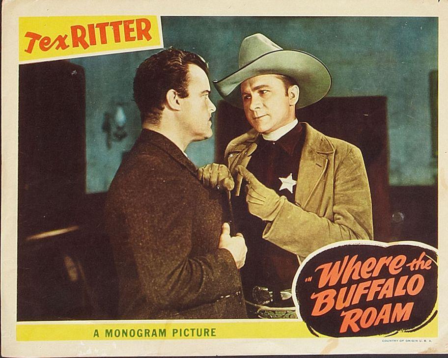 John Merton and Tex Ritter in Where the Buffalo Roam (1938)