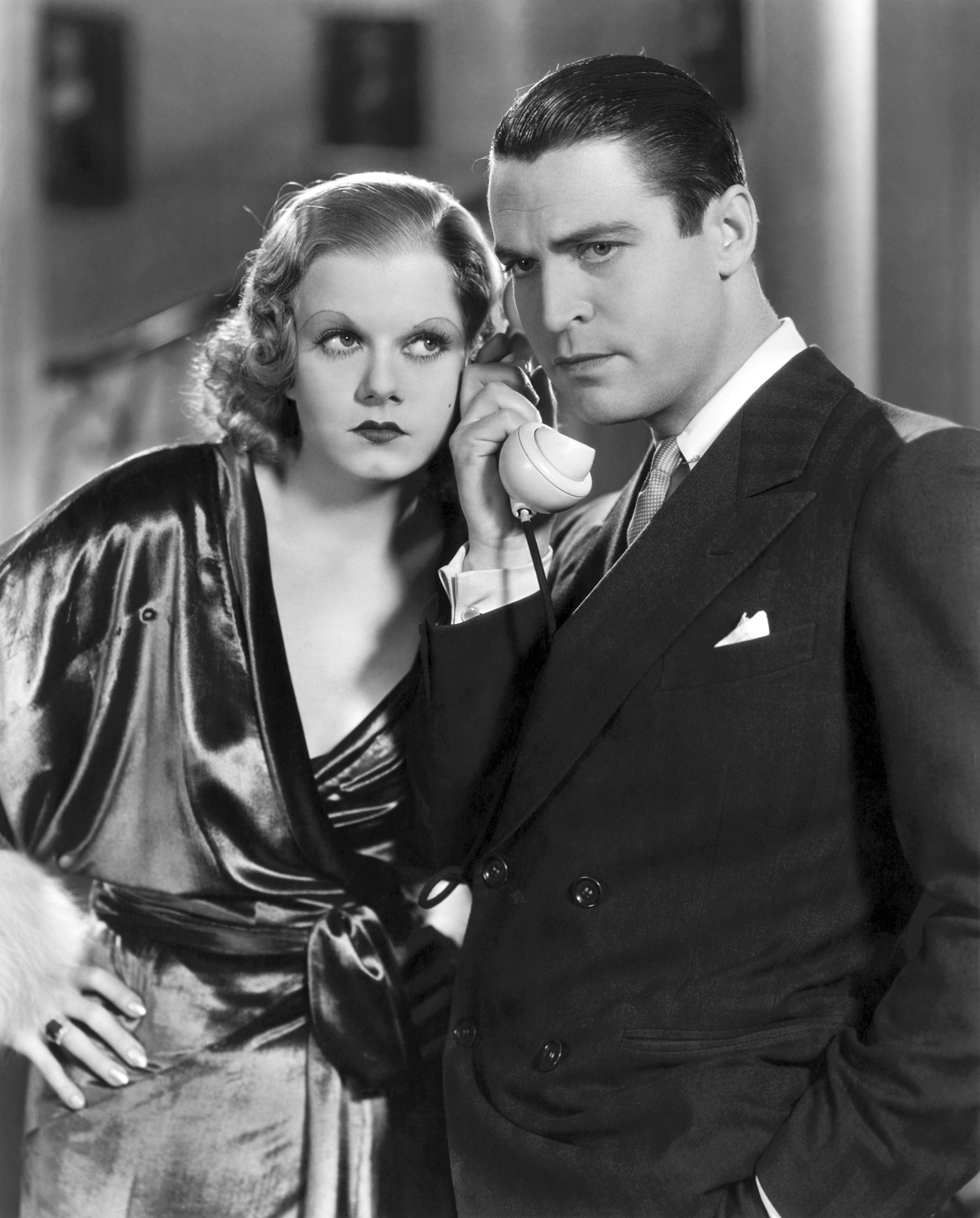 Jean Harlow and Chester Morris in Red-Headed Woman (1932)