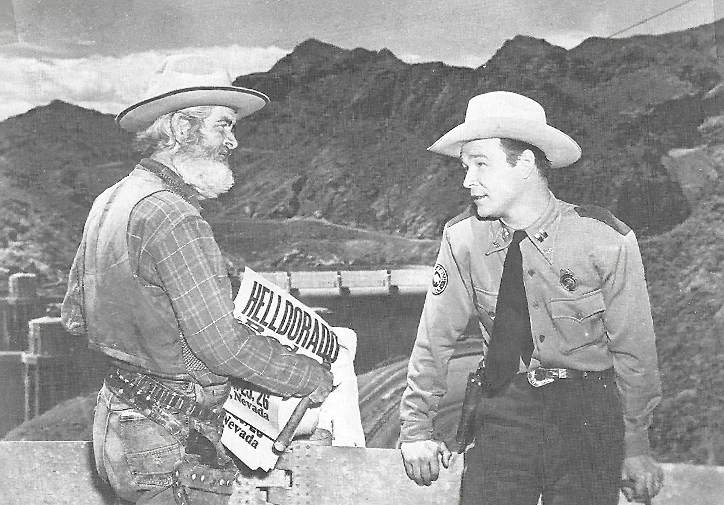 Roy Rogers and George 'Gabby' Hayes in Heldorado (1946)