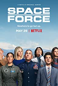 John Malkovich, Lisa Kudrow, Steve Carell, Ben Schwartz, Jimmy O. Yang, Tawny Newsome, and Diana Silvers in Space Force (2020)
