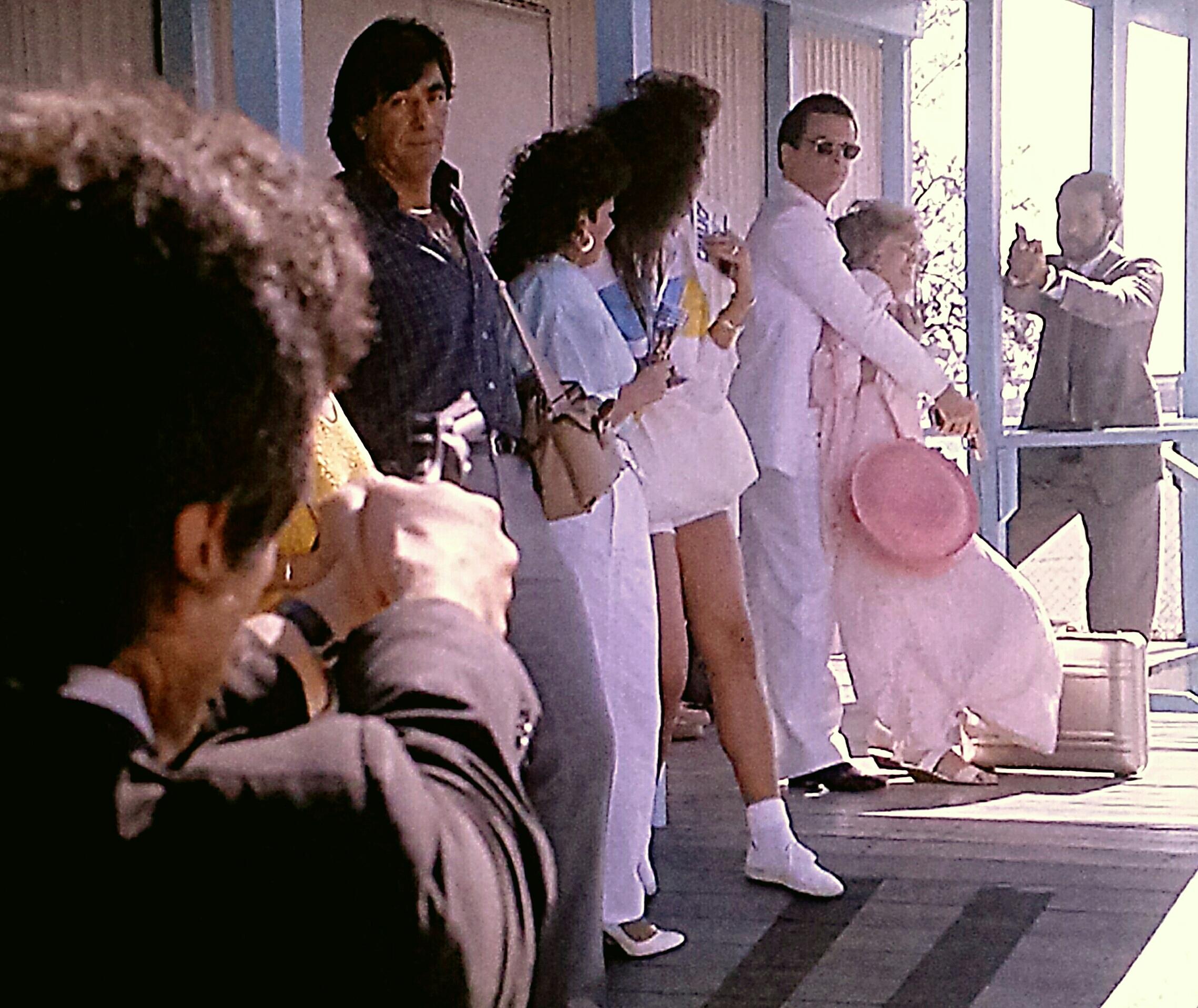 Edward James Olmos, Tony Plana, and Philip Michael Thomas in Miami Vice (1984)