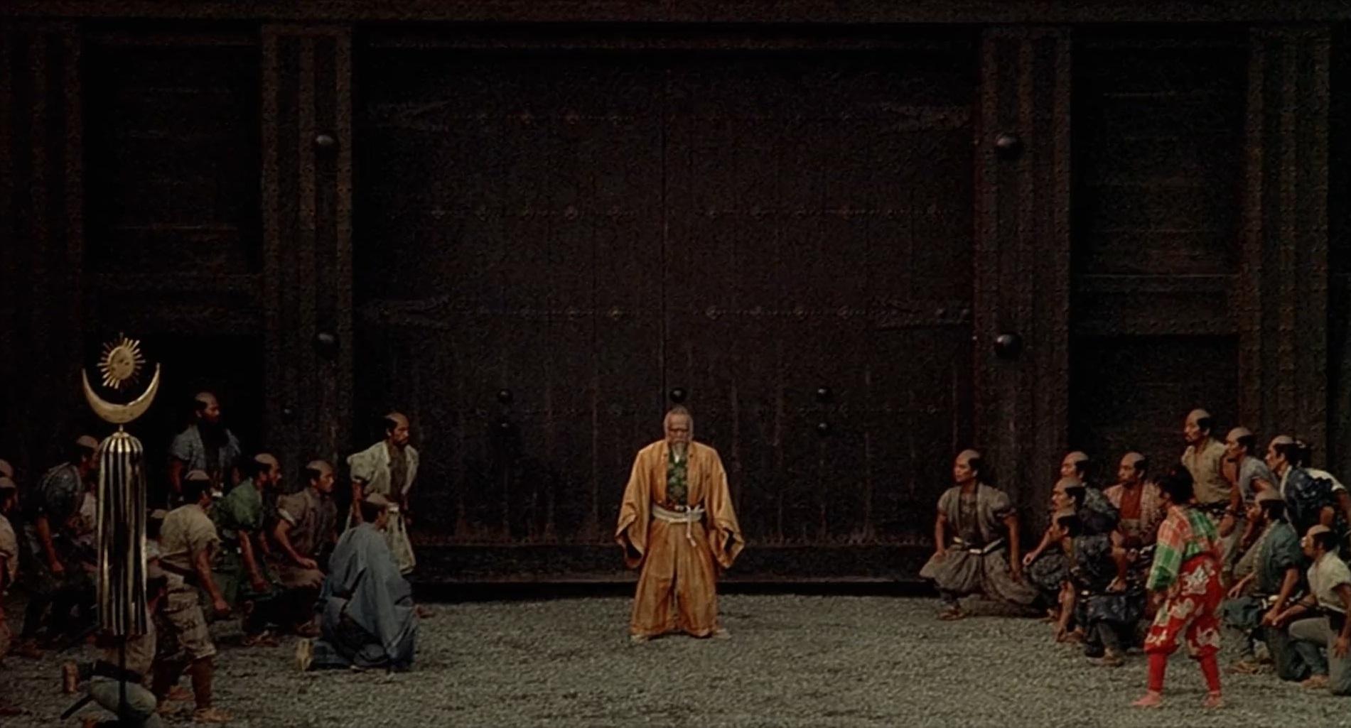 Kazuo Katô, Tatsuya Nakadai, and Pîtâ in Ran (1985)