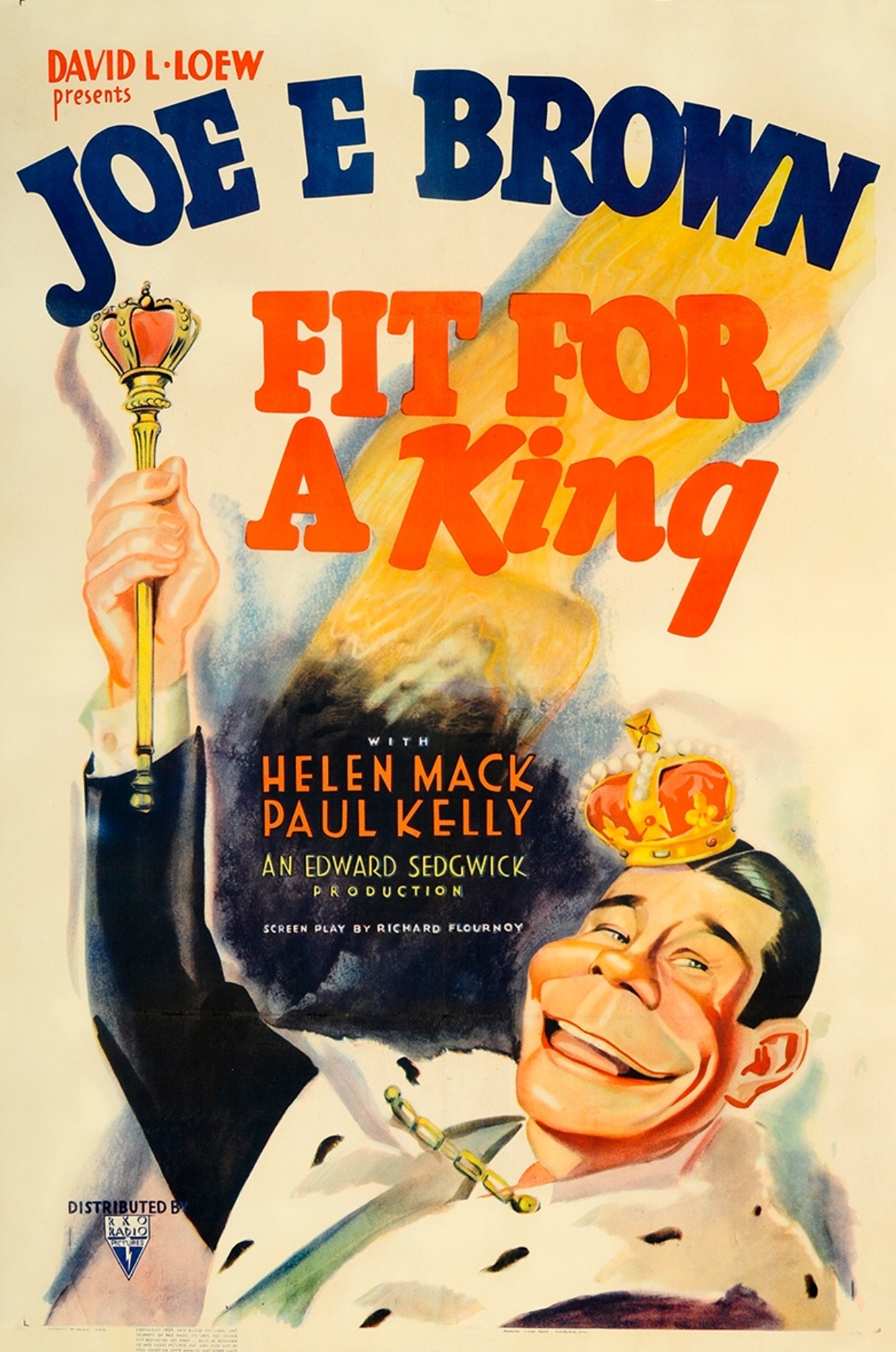 Joe E. Brown in Fit for a King (1937)