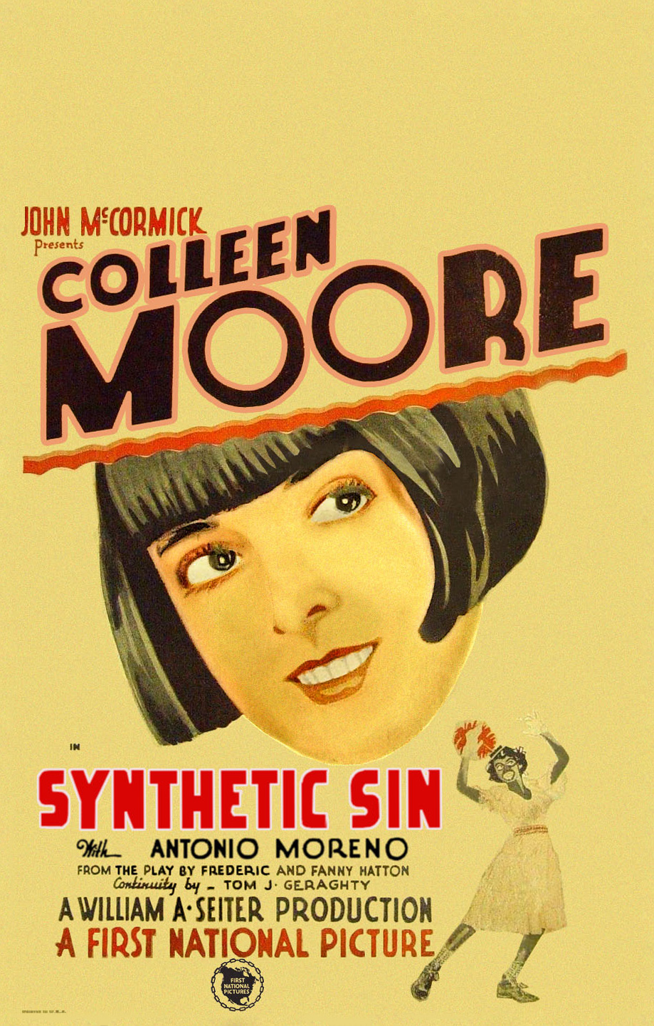 Gertrude Howard and Colleen Moore in Synthetic Sin (1929)