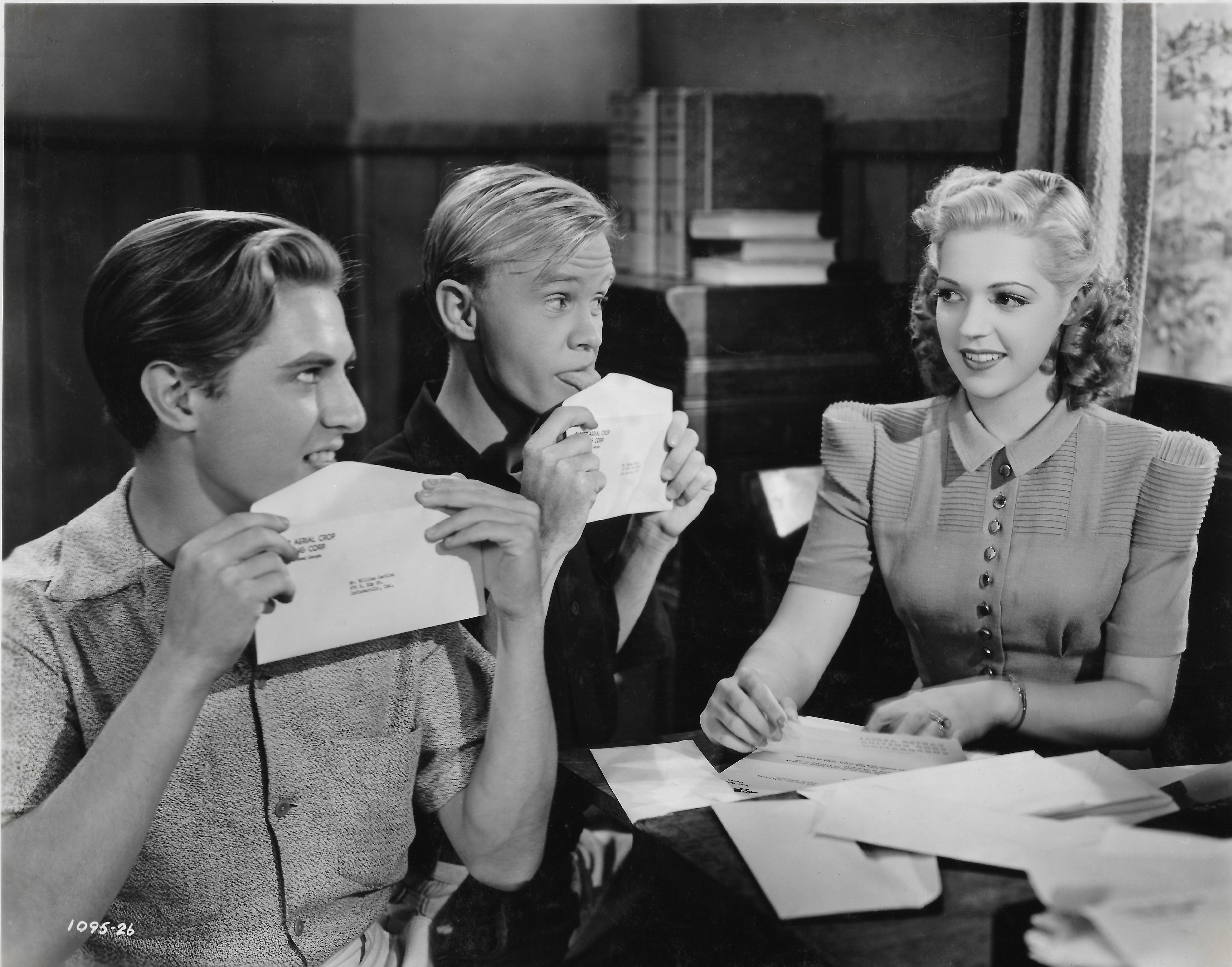 "Harris Berger, William 'Billy' Benedict and Anne Gwynne in ""Give Us Wings"" (1940)"