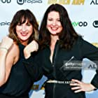 Ann Marie Allison and Jenna Milly at the Golden Arm premiere April 30, 2021