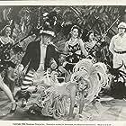 Richard Denning, William Frawley, and Martha Raye in The Farmer's Daughter (1940)