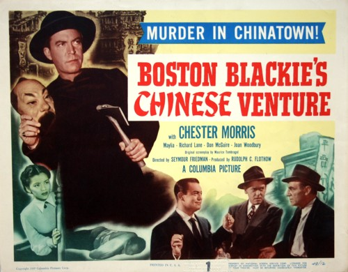 Richard Lane, Maylia, Chester Morris, and Frank Sully in Boston Blackie's Chinese Venture (1949)