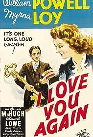 Myrna Loy, William Powell, Edmund Lowe, and Frank McHugh in I Love You Again (1940)