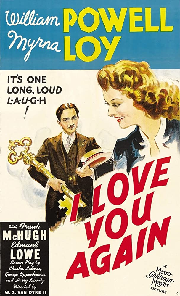 Myrna Loy, William Powell, Edmund Lowe, and Frank McHugh in I Love You Again (1940)