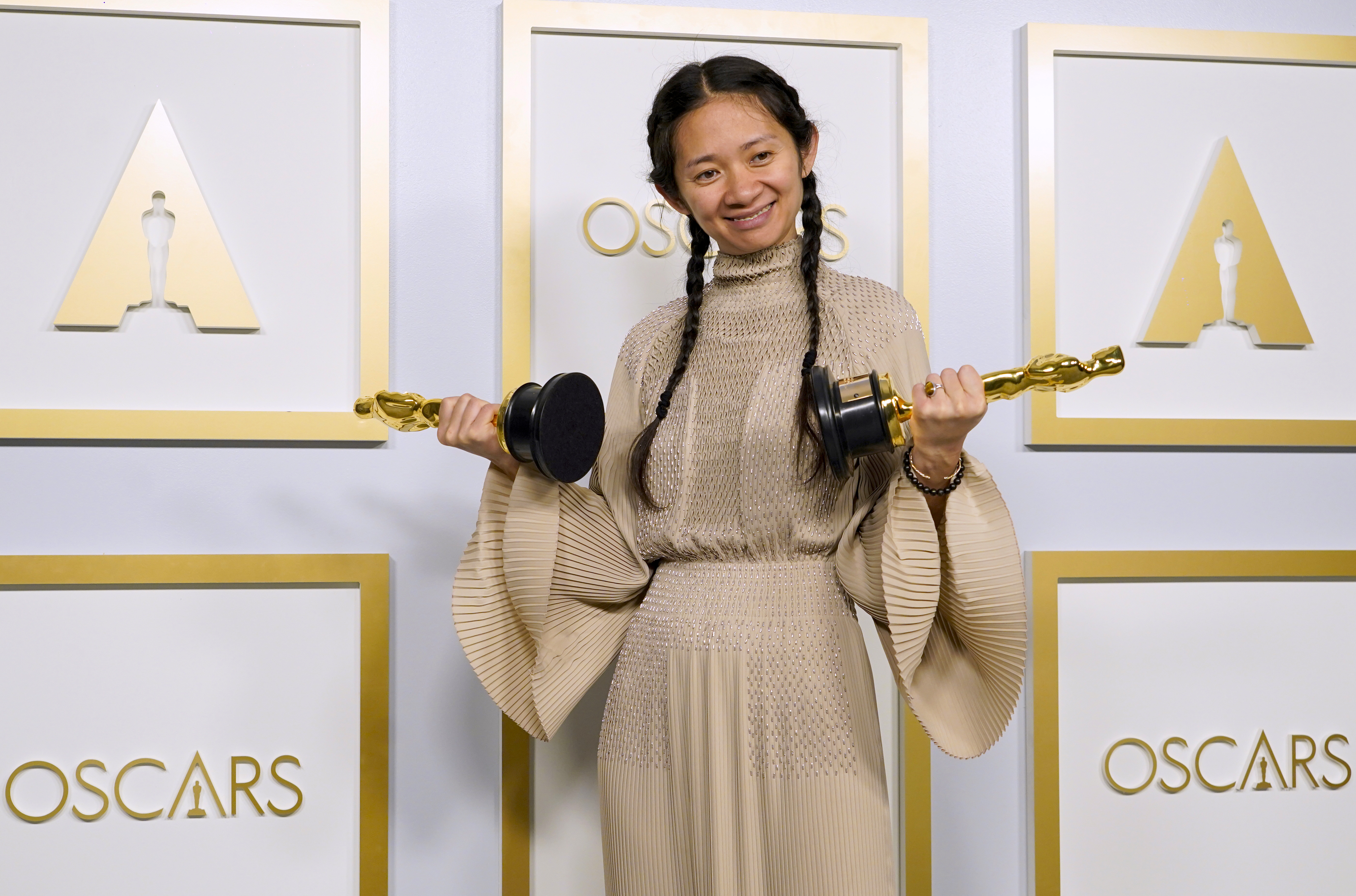 Chloé Zhao at an event for The 93rd Oscars (2021)