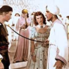 Maureen O'Hara, Anthony Quinn, and Douglas Fairbanks Jr. in Sinbad, the Sailor (1947)