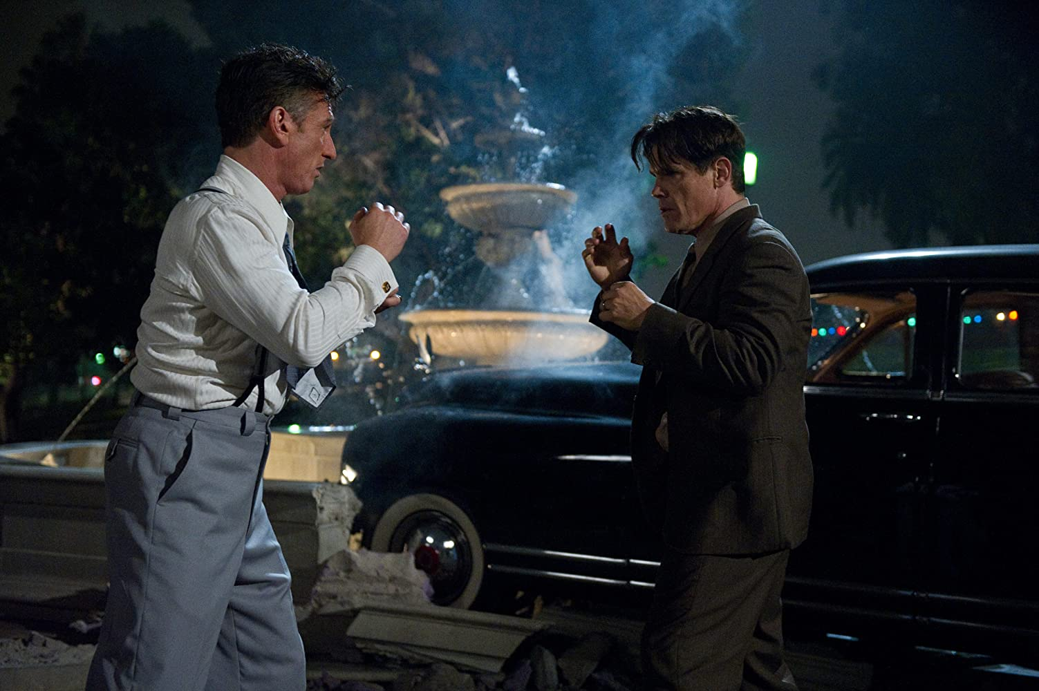 Sean Penn and Josh Brolin in Gangster Squad (2013)
