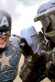 Master Chief vs. Captain America Poster