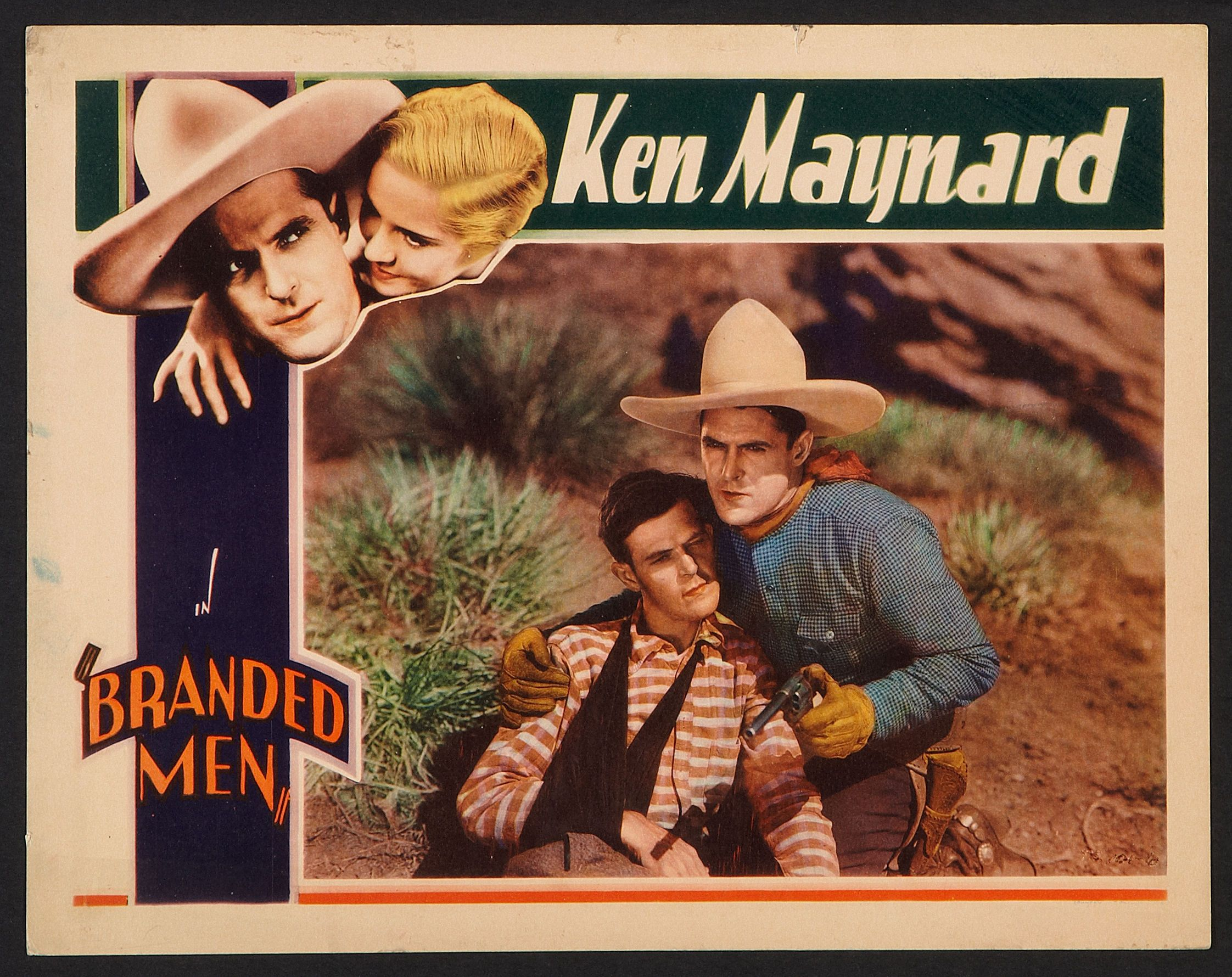 June Clyde, Donald Keith, and Ken Maynard in Branded Men (1931)