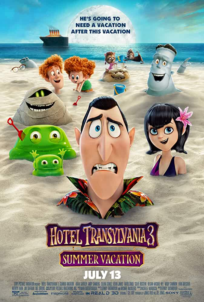 Steve Buscemi, Adam Sandler, David Spade, Kevin James, Genndy Tartakovsky, Keegan-Michael Key, Selena Gomez, and Andy Samberg in Hotel Transylvania 3: Summer Vacation (2018)
