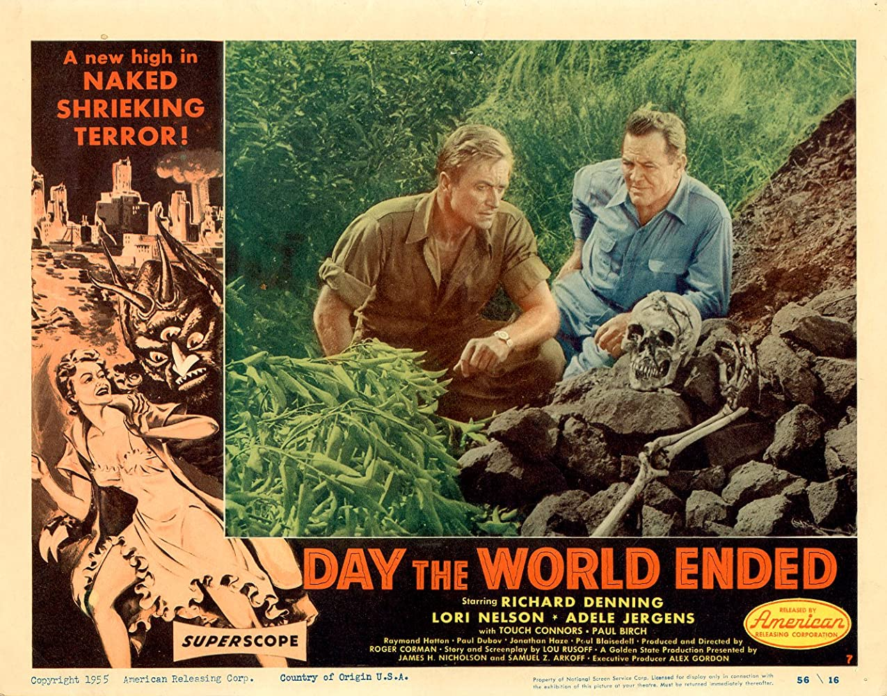 Paul Birch and Richard Denning in Day the World Ended (1955)