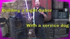 Building a Lightsaber With a Service Dog at Galaxy's Edge!