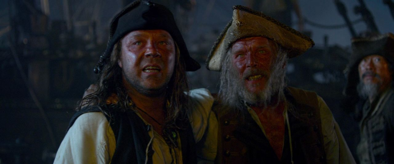 Christopher Fairbank and Stephen Graham in Pirates of the Caribbean: On Stranger Tides (2011)