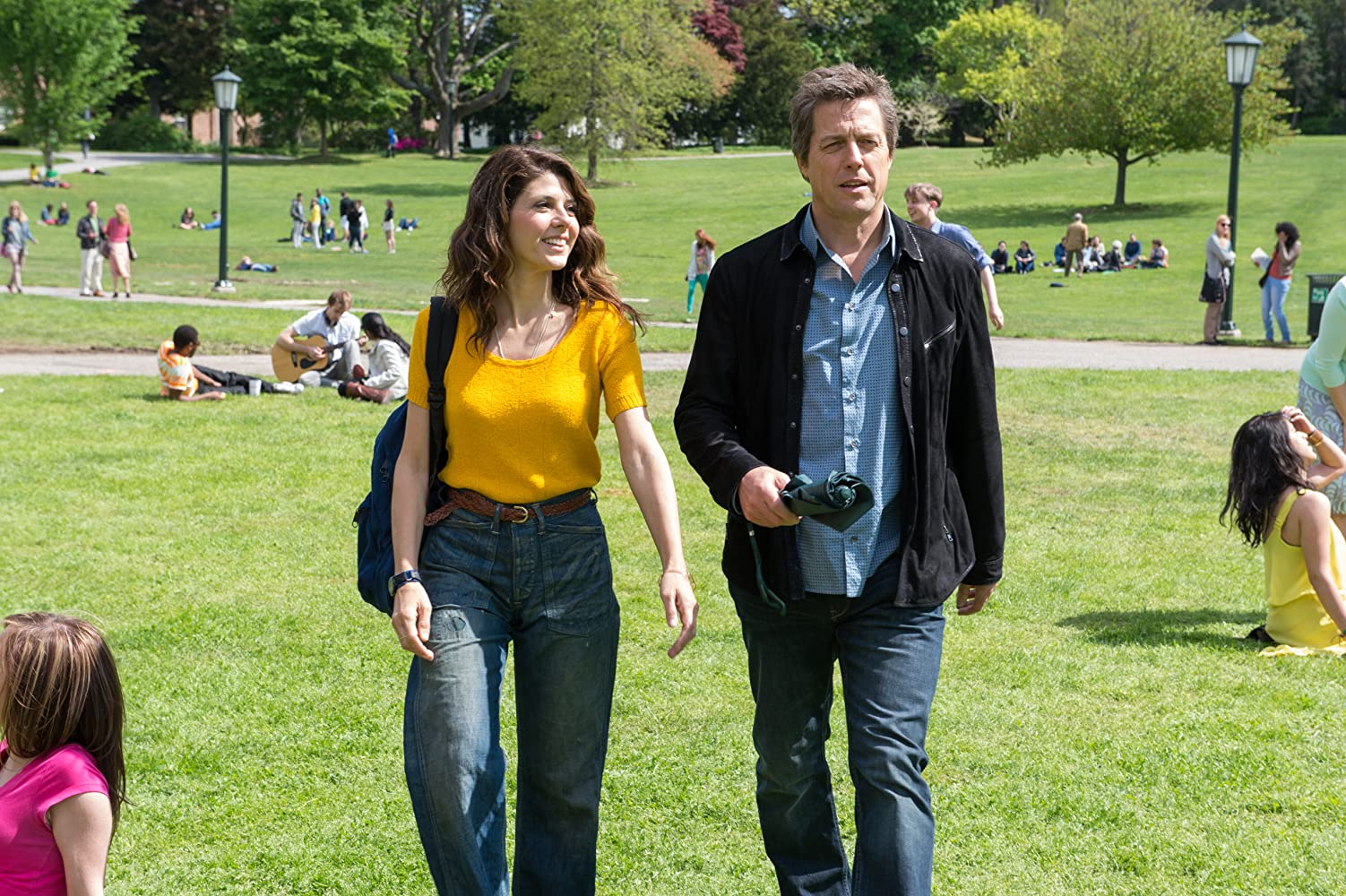 Hugh Grant and Marisa Tomei in The Rewrite (2014)