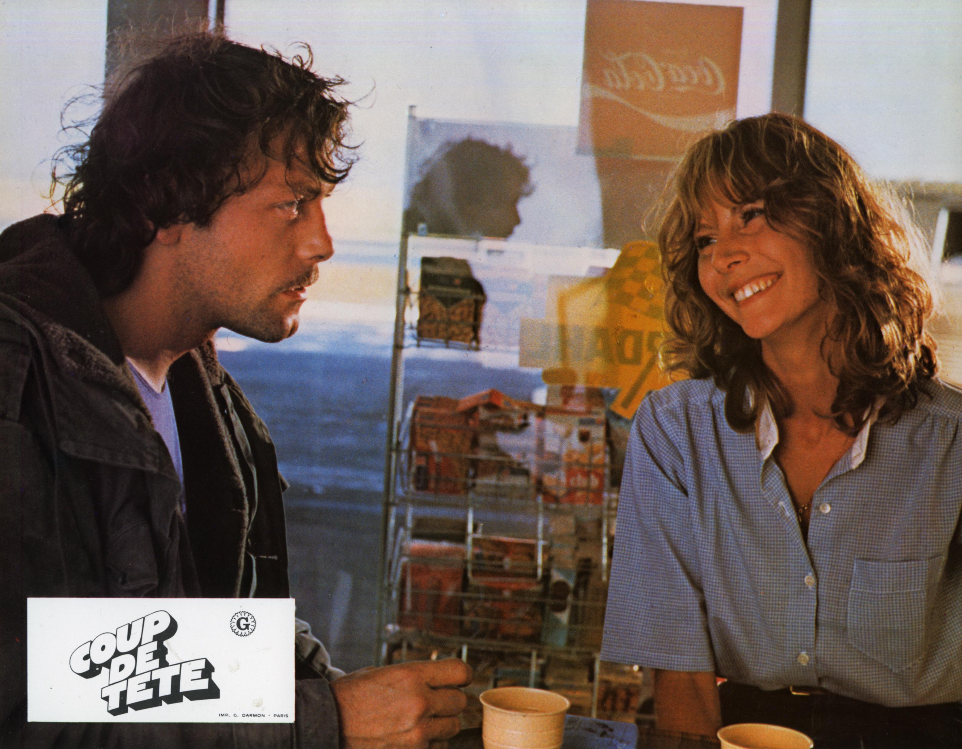 Patrick Dewaere and France Dougnac in Coup de tête (1979)