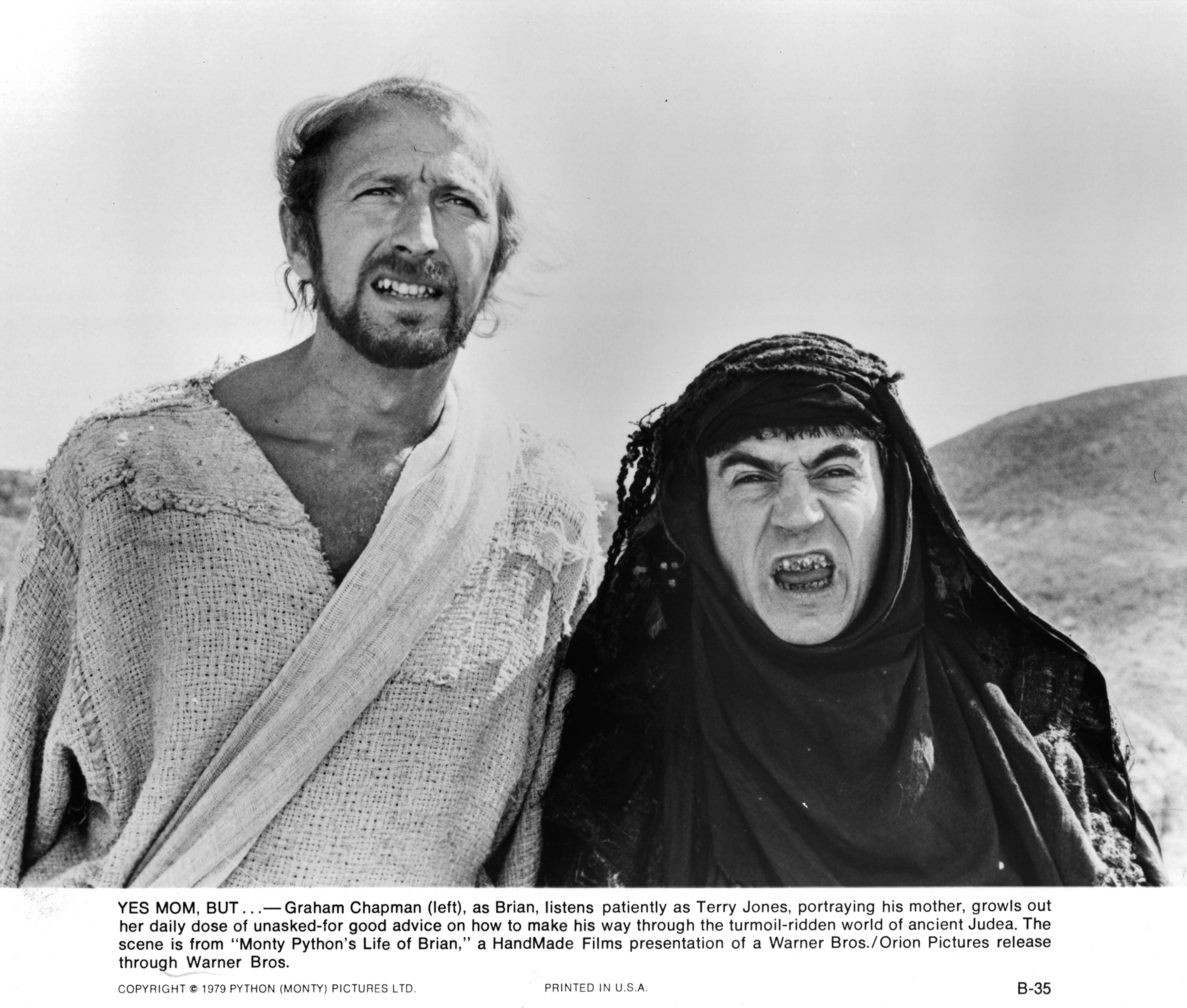 Graham Chapman and Terry Jones in Life of Brian (1979)
