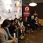Ricardo Cisneros, Anike Tourse, and Angie Kim at an event for America's Family