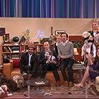 Conan O'Brien, Mayim Bialik, Kaley Cuoco, Johnny Galecki, Simon Helberg, Jim Parsons, Melissa Rauch, and Kunal Nayyar in Conan (2010)