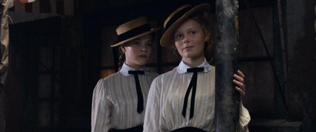 Izzy (on left) as 'Valerie Freeman' in 'Ripper Street', 2016