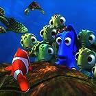 Albert Brooks, Ellen DeGeneres, and Nicholas Bird in Finding Nemo (2003)