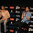 Aaron Moorhead and Justin Benson at an event for Spring (2014)