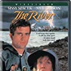 Mel Gibson, Sissy Spacek, Shane Bailey, and Becky Jo Lynch in The River (1984)
