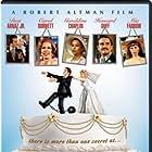 Carol Burnett, Geraldine Chaplin, Mia Farrow, Howard Duff, and Desi Arnaz Jr. in A Wedding (1978)