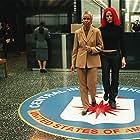 Jennifer Garner and Greta Sesheta in Alias (2001)