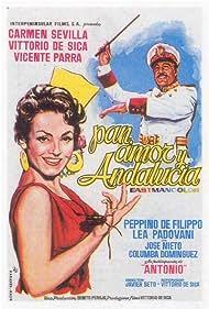 Vittorio De Sica and Carmen Sevilla in Pan, amor y Andalucía (1958)