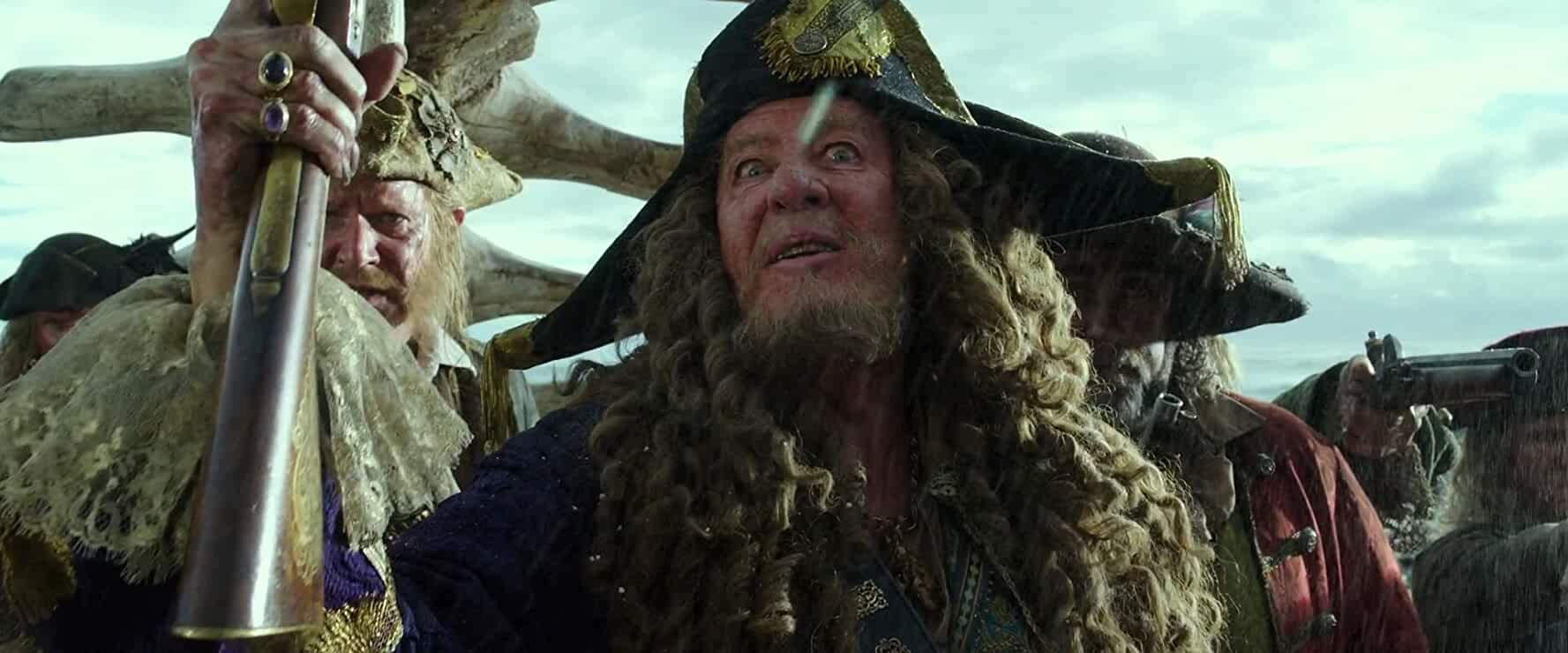Geoffrey Rush, Angus Barnett, and Giles New in Pirates of the Caribbean: Dead Men Tell No Tales (2017)