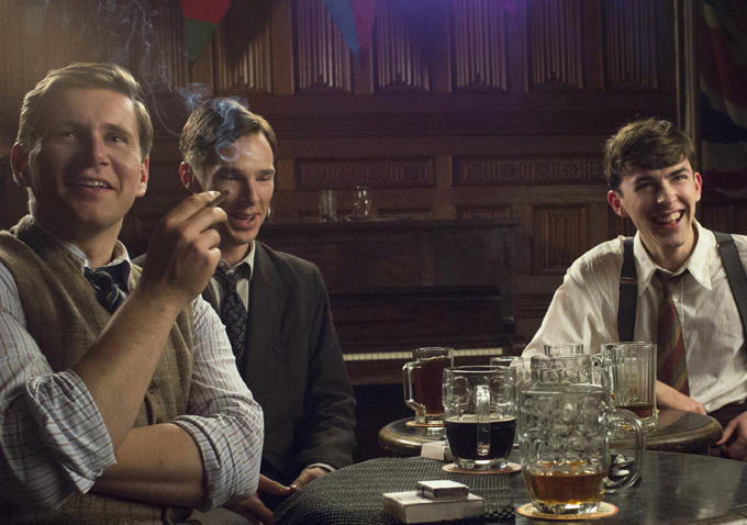 Matthew Beard, Benedict Cumberbatch, and Allen Leech in The Imitation Game (2014)