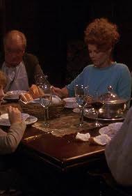 Patrick Stewart, Samantha Eggar, David Birkin, and Jeremy Kemp in Star Trek: The Next Generation (1987)