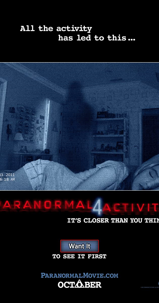 Subtitle of Paranormal Activity 4