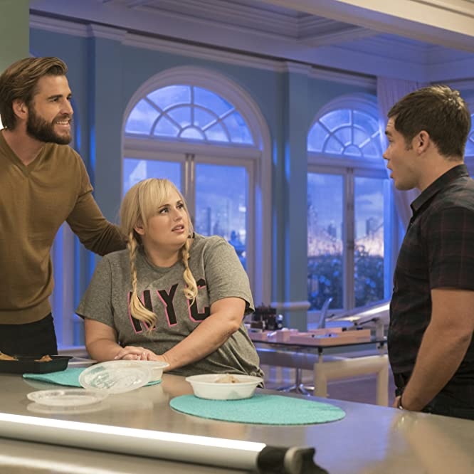 Rebel Wilson, Adam Devine, and Liam Hemsworth in Isn't It Romantic (2019)