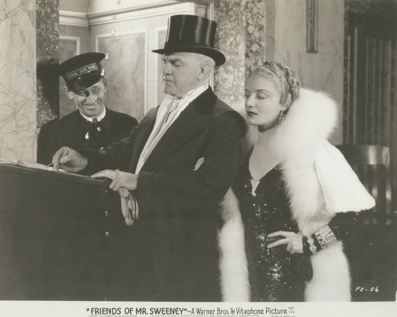 Harry Beresford, Berton Churchill, and Dorothy Tree in Friends of Mr. Sweeney (1934)